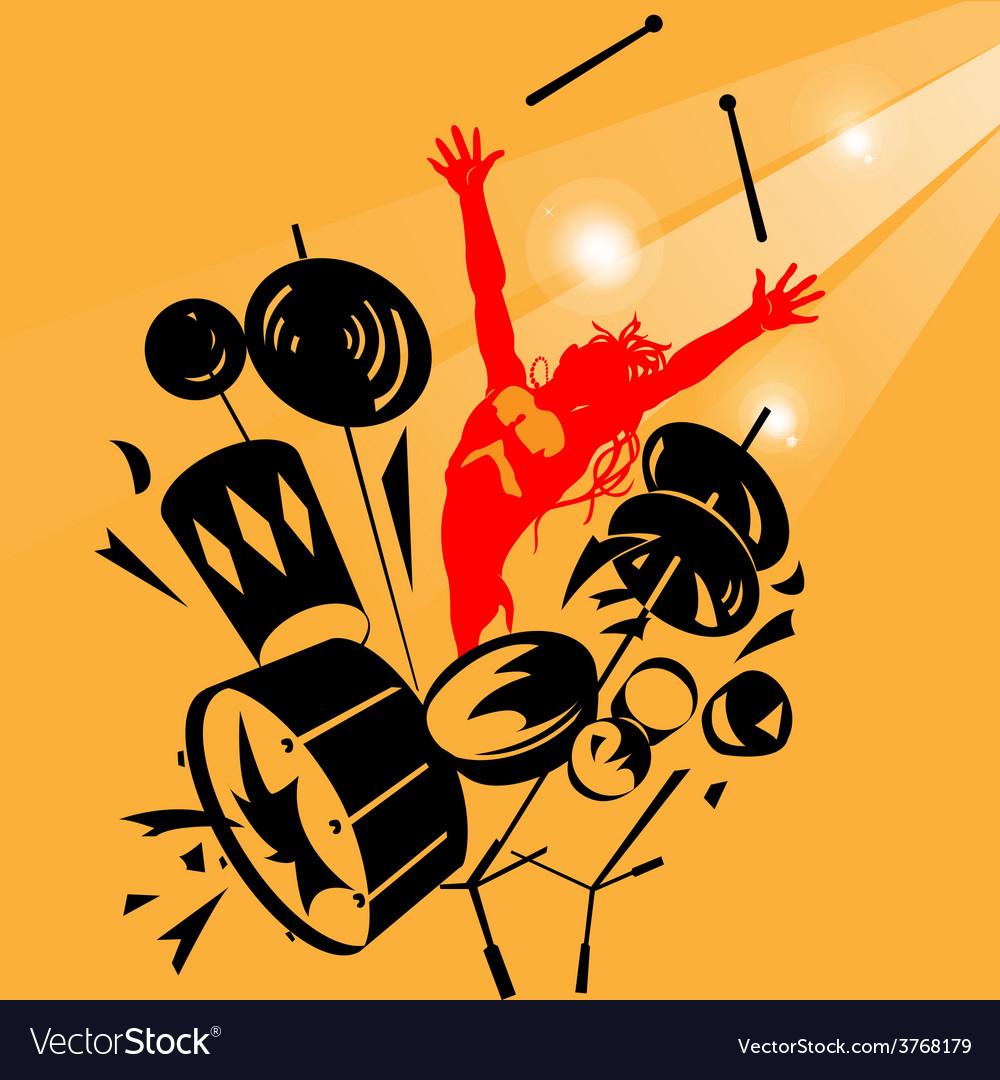Rock drummer vector | Price: 1 Credit (USD $1)