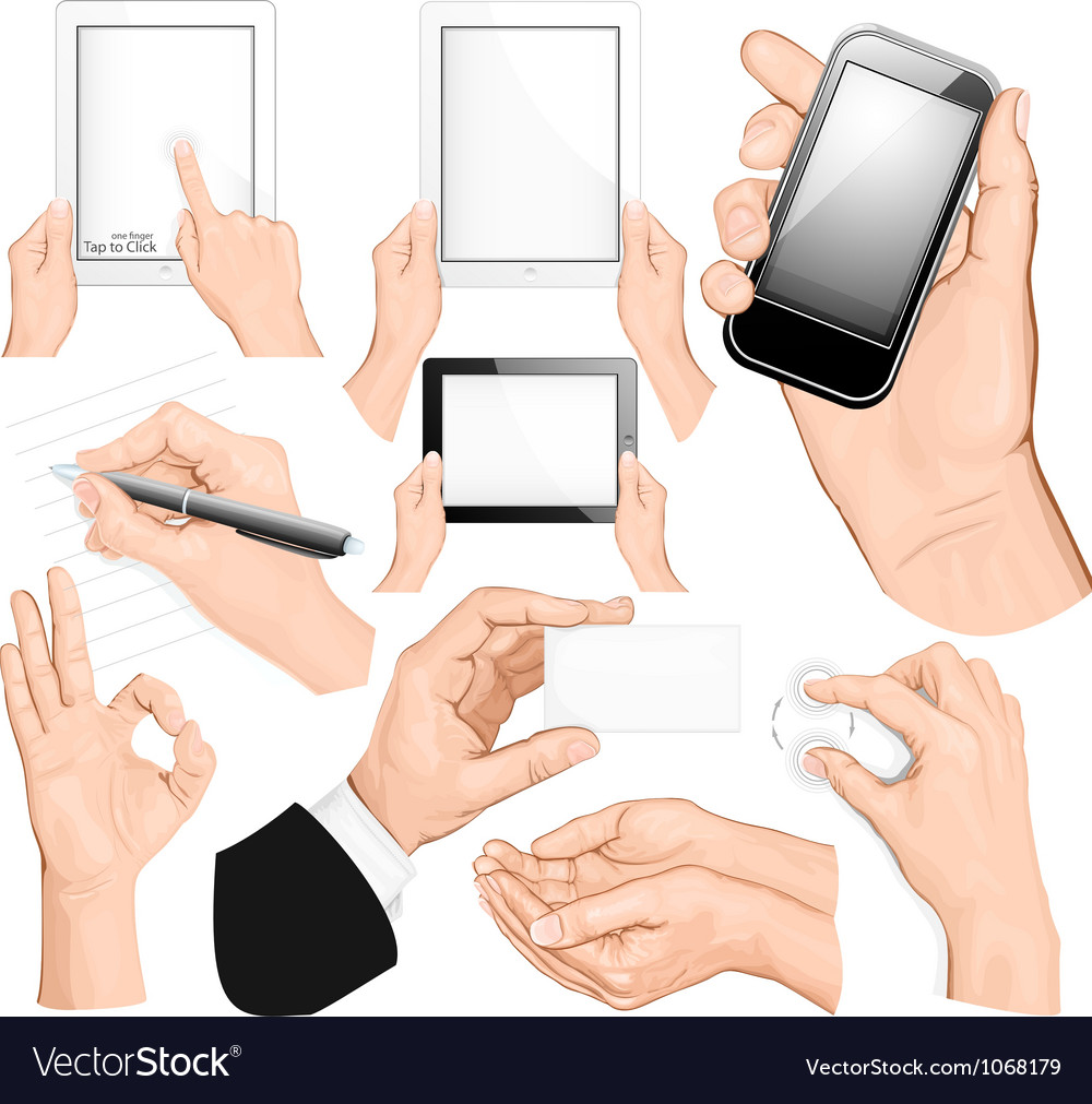 Set of hands vector | Price: 5 Credit (USD $5)