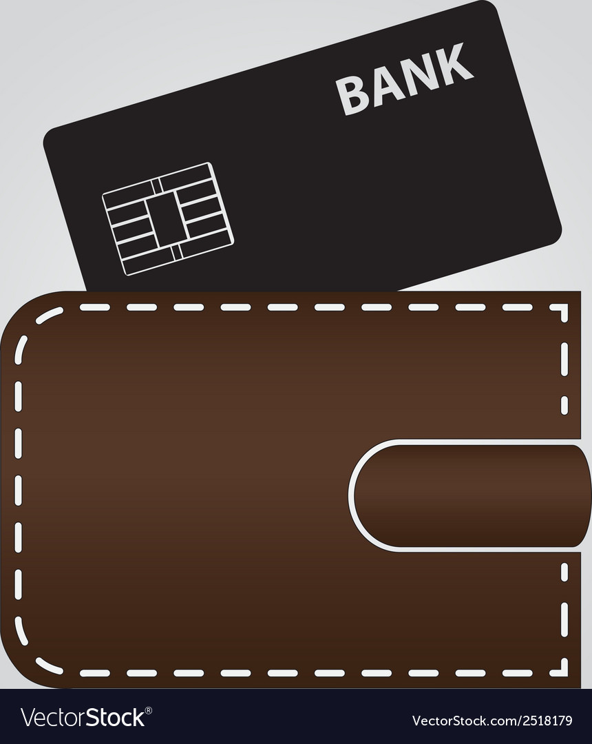 Wallet and bank card eps10 vector | Price: 1 Credit (USD $1)