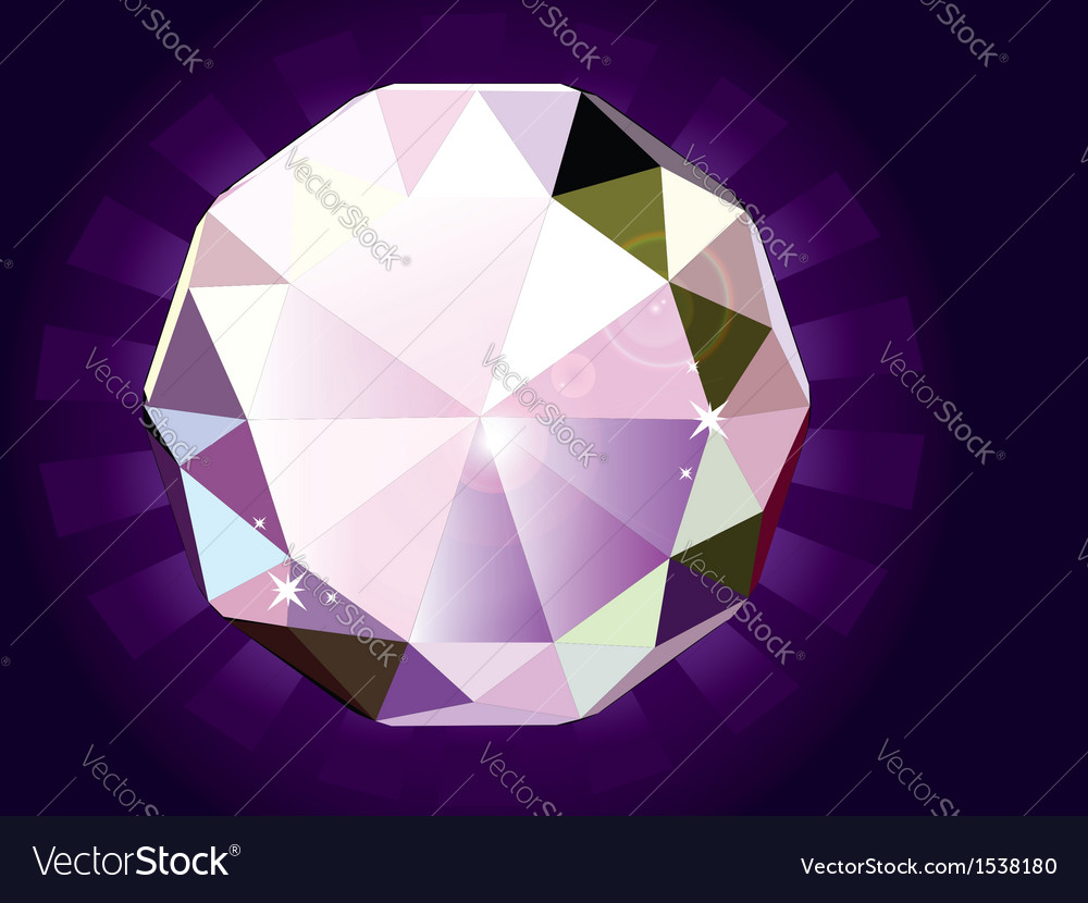 A brilliant cut diamond vector | Price: 1 Credit (USD $1)