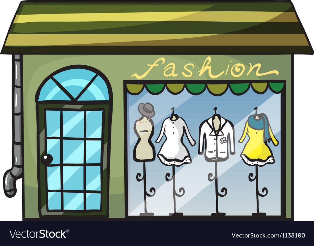 A clothing store vector | Price: 1 Credit (USD $1)