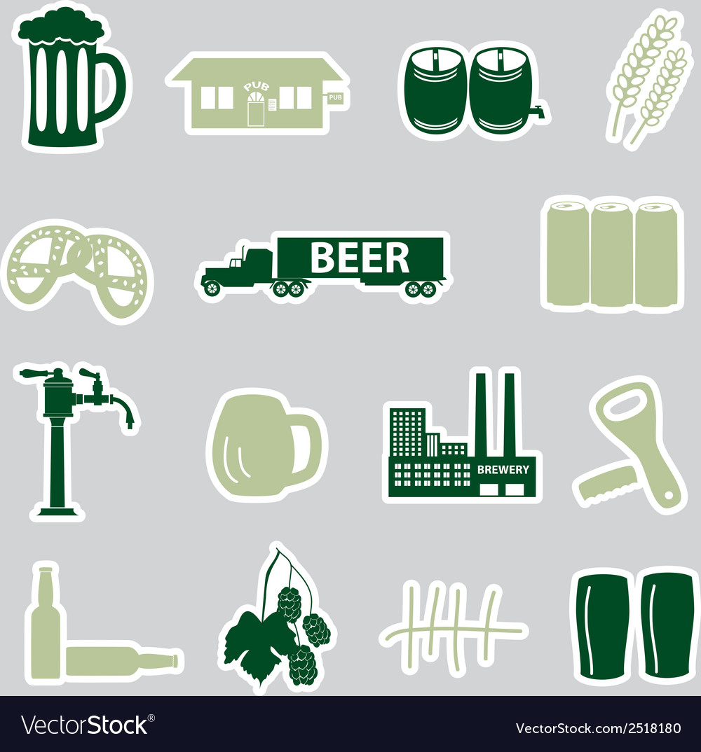 Beer stickers set eps10 vector | Price: 1 Credit (USD $1)