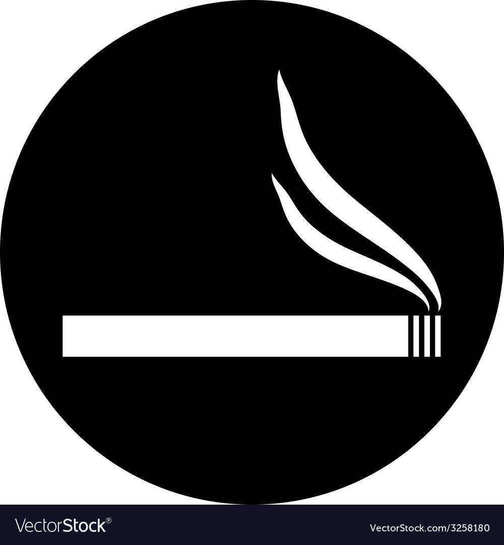 Cigarette button vector | Price: 1 Credit (USD $1)