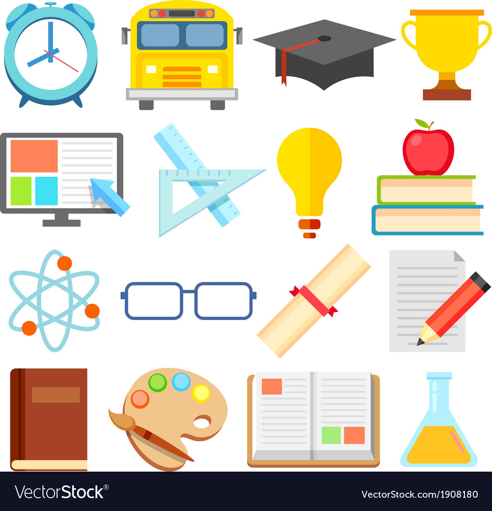 Flat education icon vector | Price: 1 Credit (USD $1)