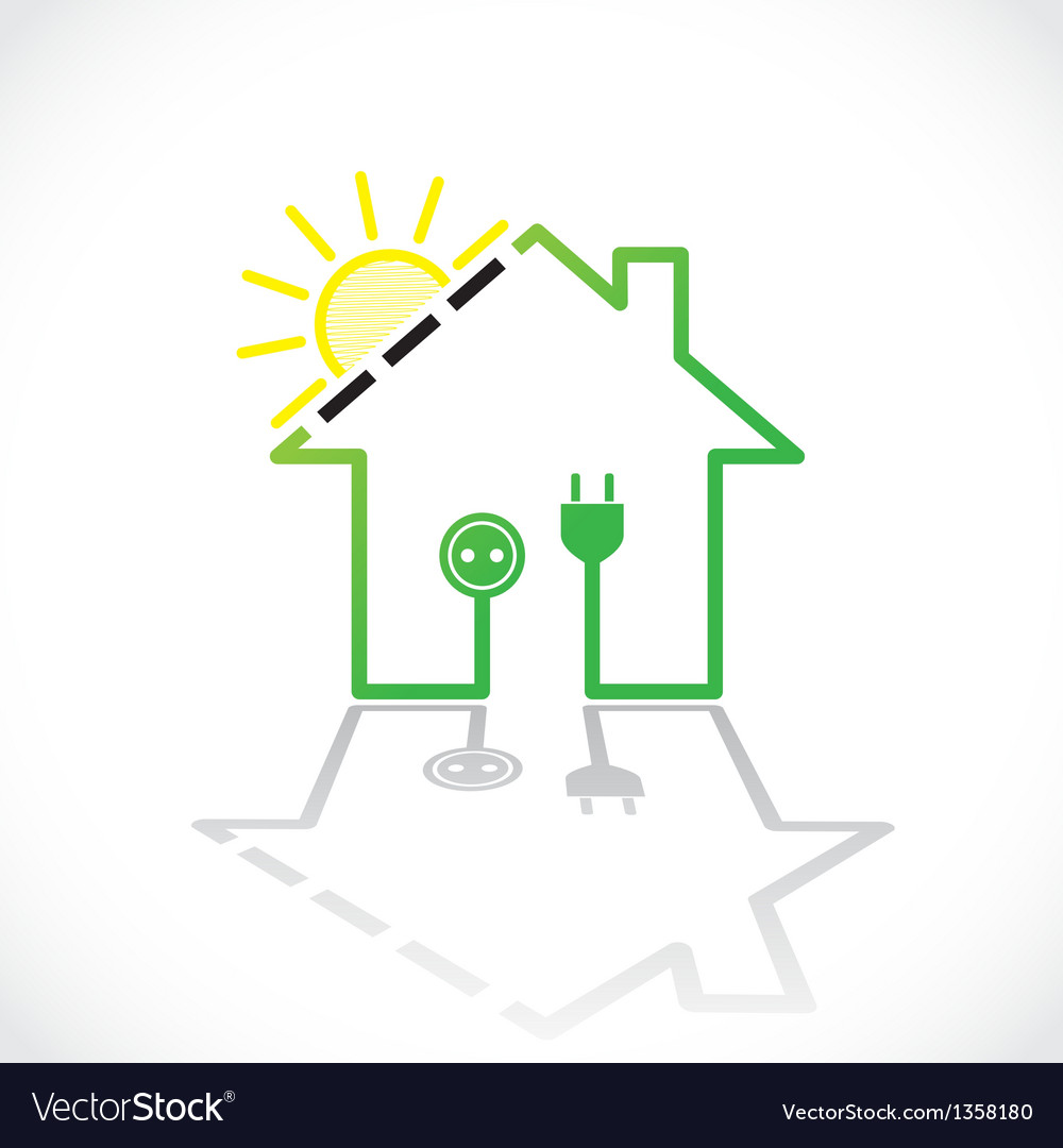 Green house solar circuit vector | Price: 1 Credit (USD $1)