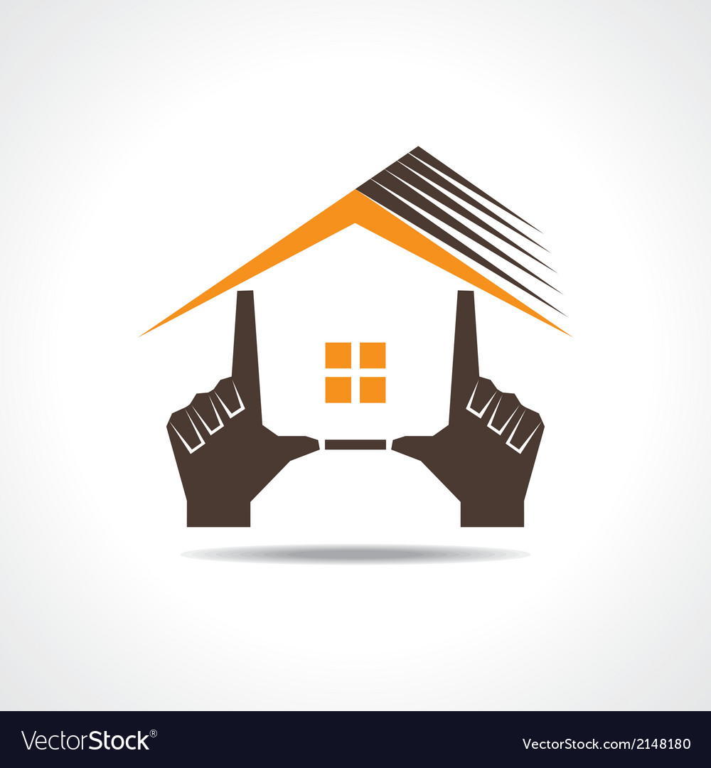 Hand make a home icon vector | Price: 1 Credit (USD $1)