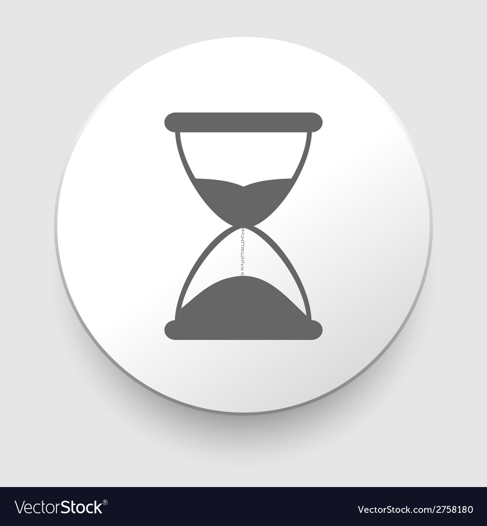 Hourglass time icon isolated vector | Price: 1 Credit (USD $1)