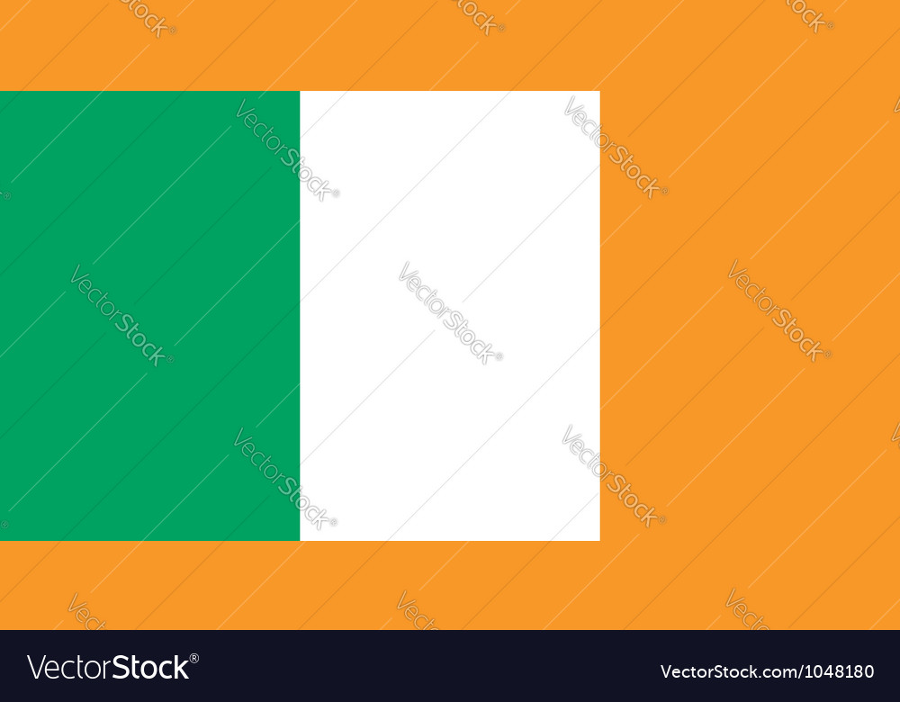 Ireland flag vector | Price: 1 Credit (USD $1)