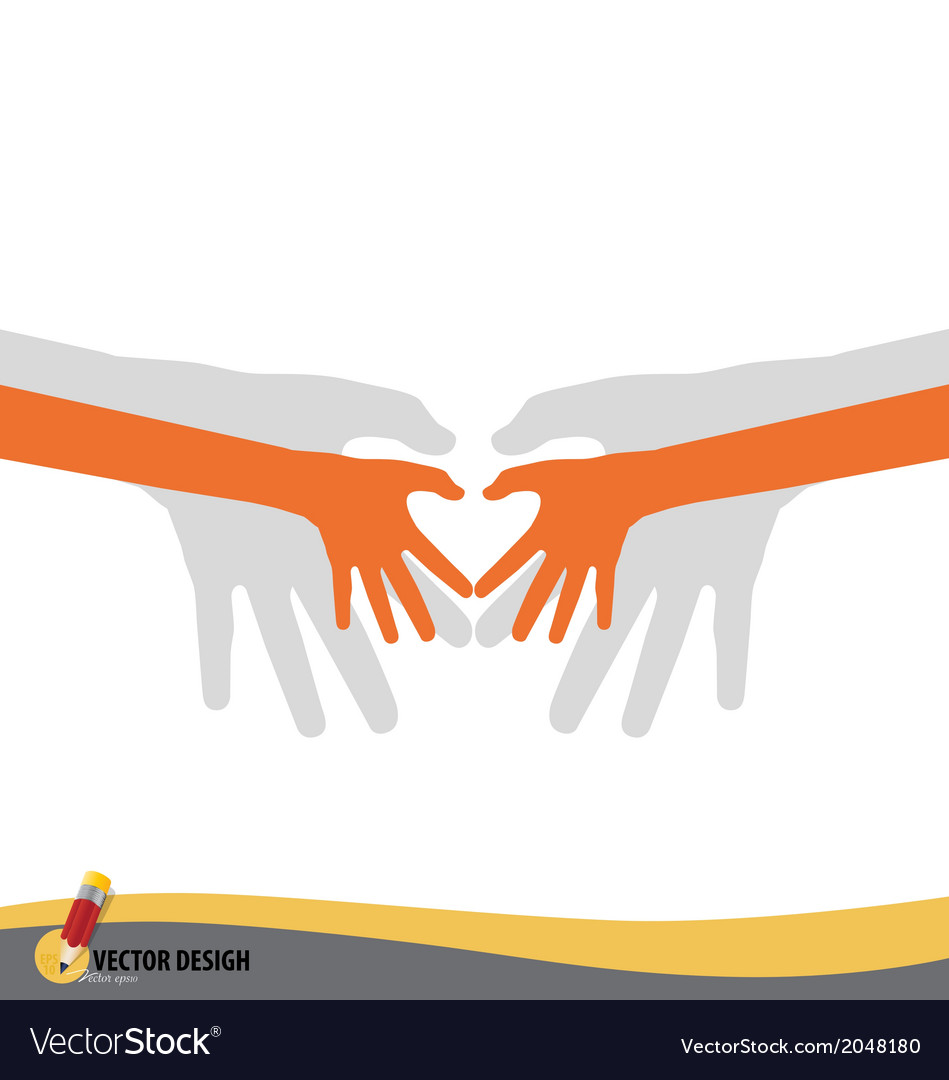 Love shape hand vector | Price: 1 Credit (USD $1)
