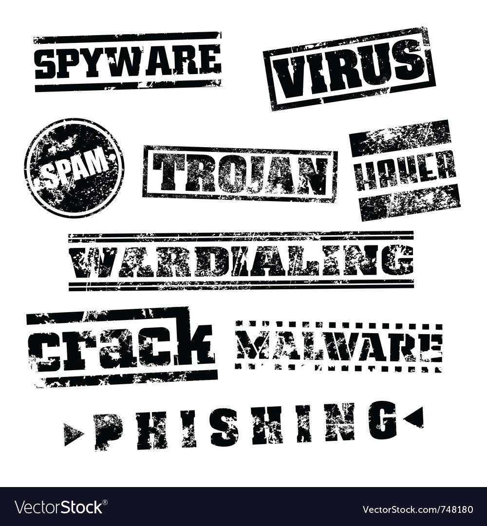 Virus stamp set vector   Price: 1 Credit (USD $1)