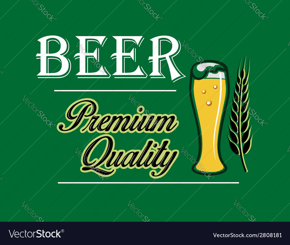 Beer and brewery emblem vector | Price: 1 Credit (USD $1)
