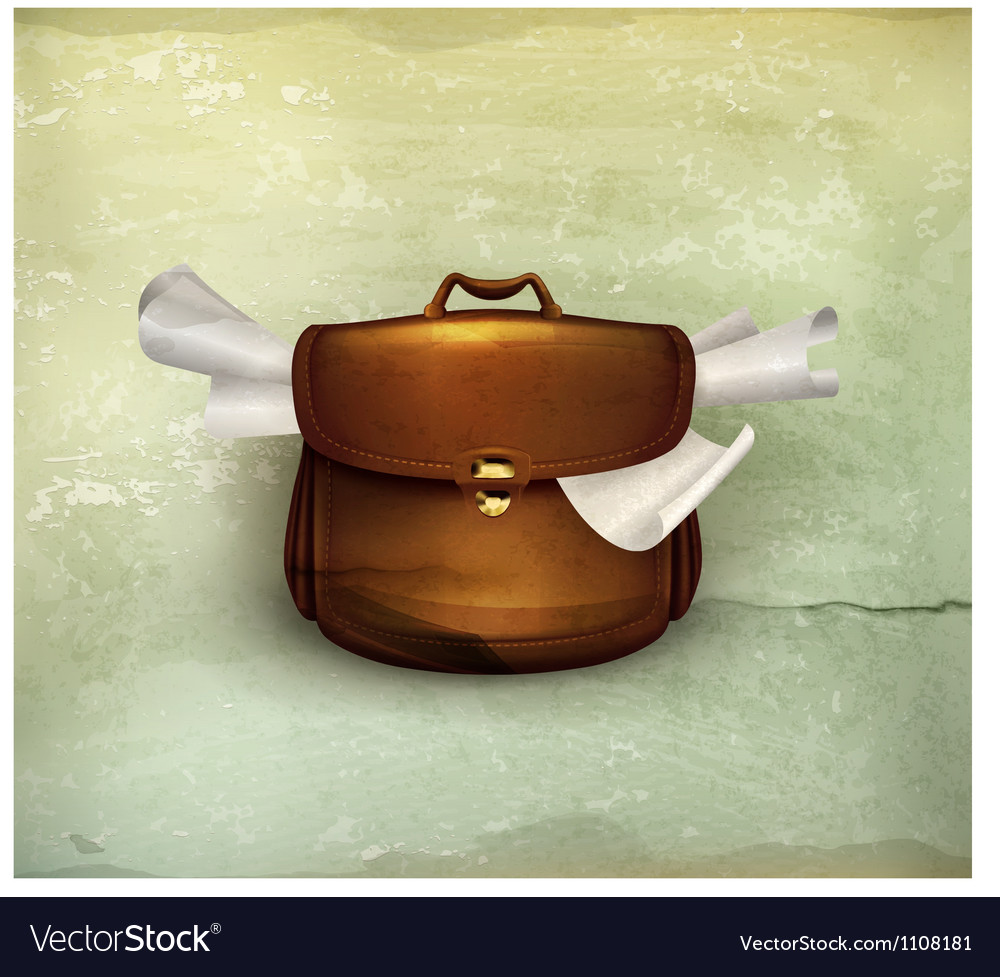 Briefcase old-style vector | Price: 1 Credit (USD $1)