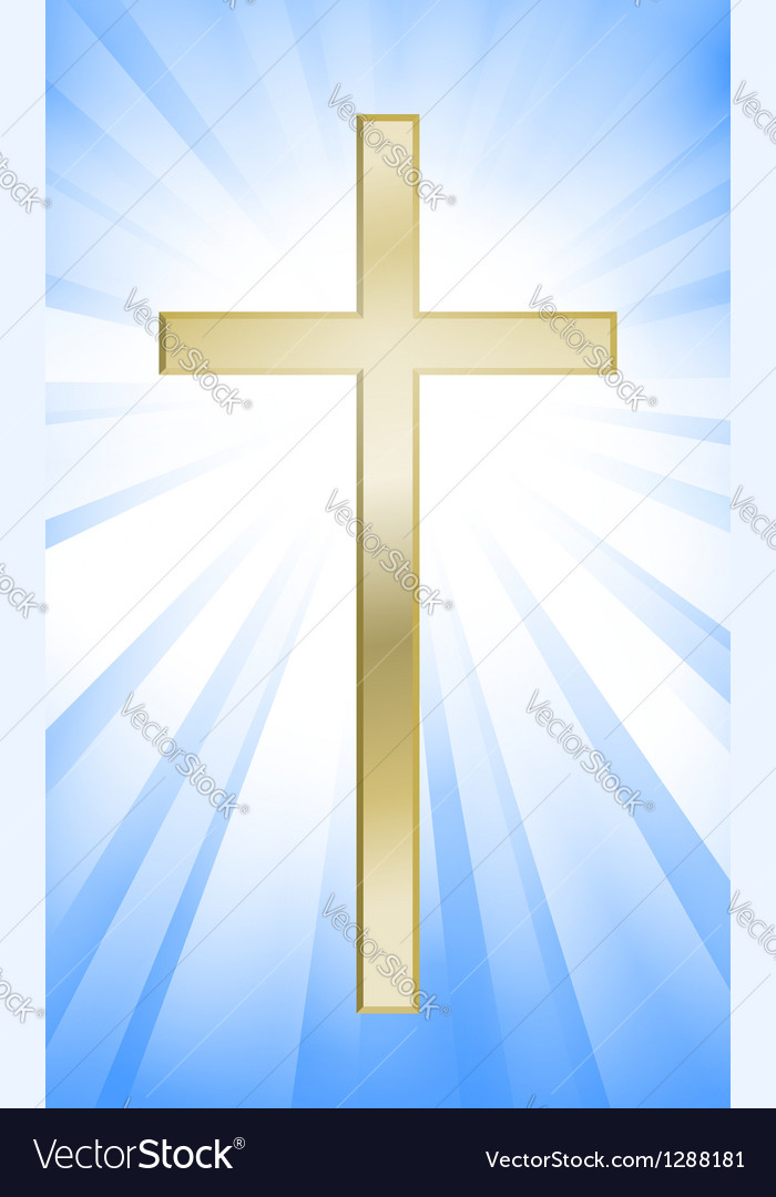Cross on sunburst background vector | Price: 1 Credit (USD $1)