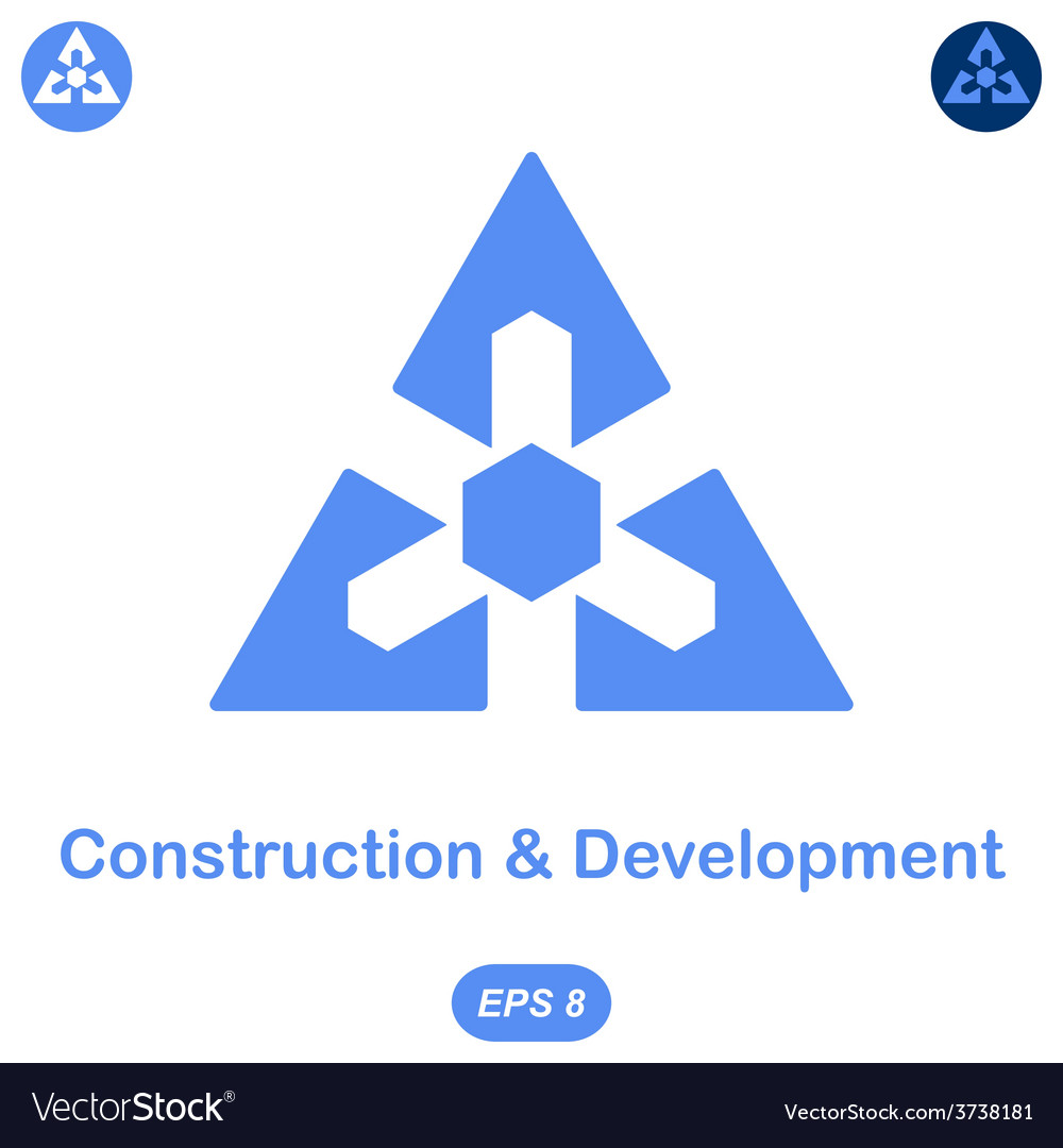 Logo conception of development and construction vector | Price: 1 Credit (USD $1)