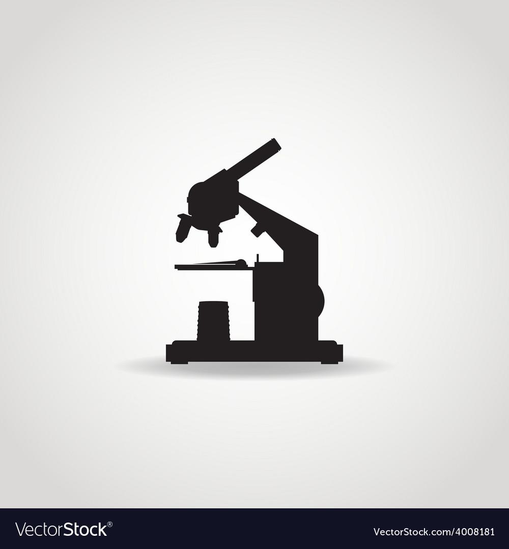 Microscope black icon vector