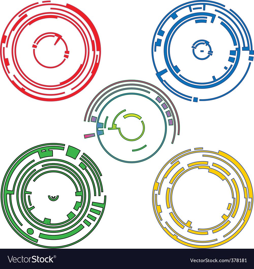 Ring graphic elements vector