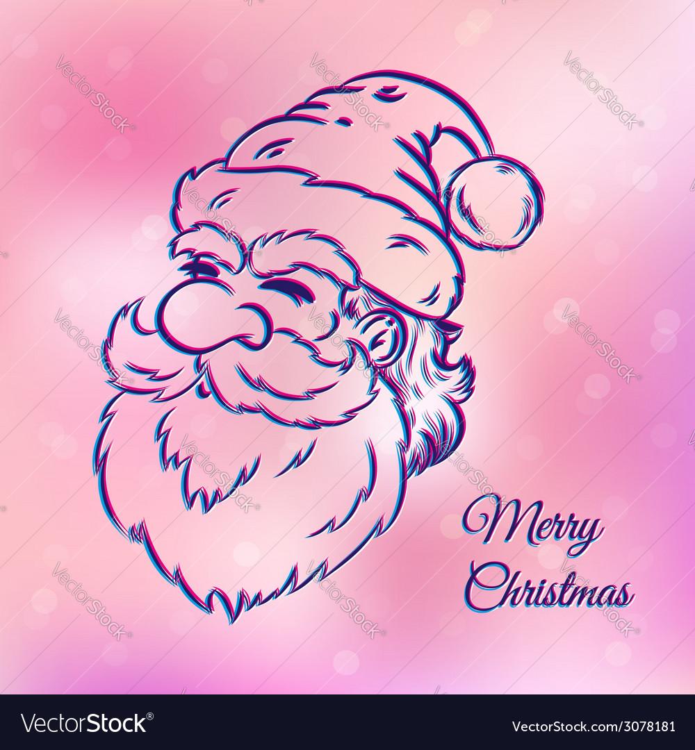 Santa pink vector | Price: 1 Credit (USD $1)