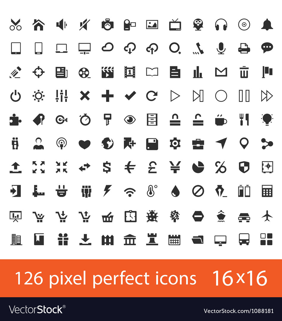 Universal icons vector | Price: 1 Credit (USD $1)