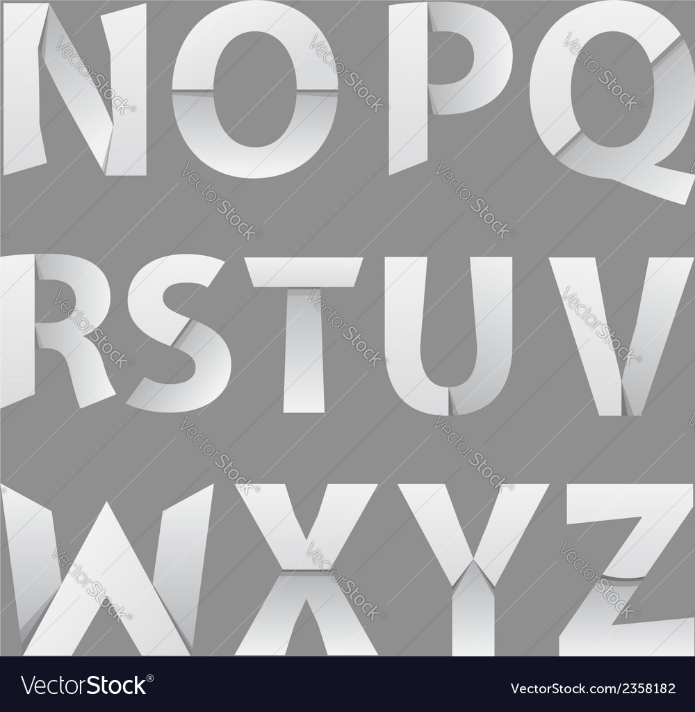 Abstract paper font letter 2 vector | Price: 1 Credit (USD $1)