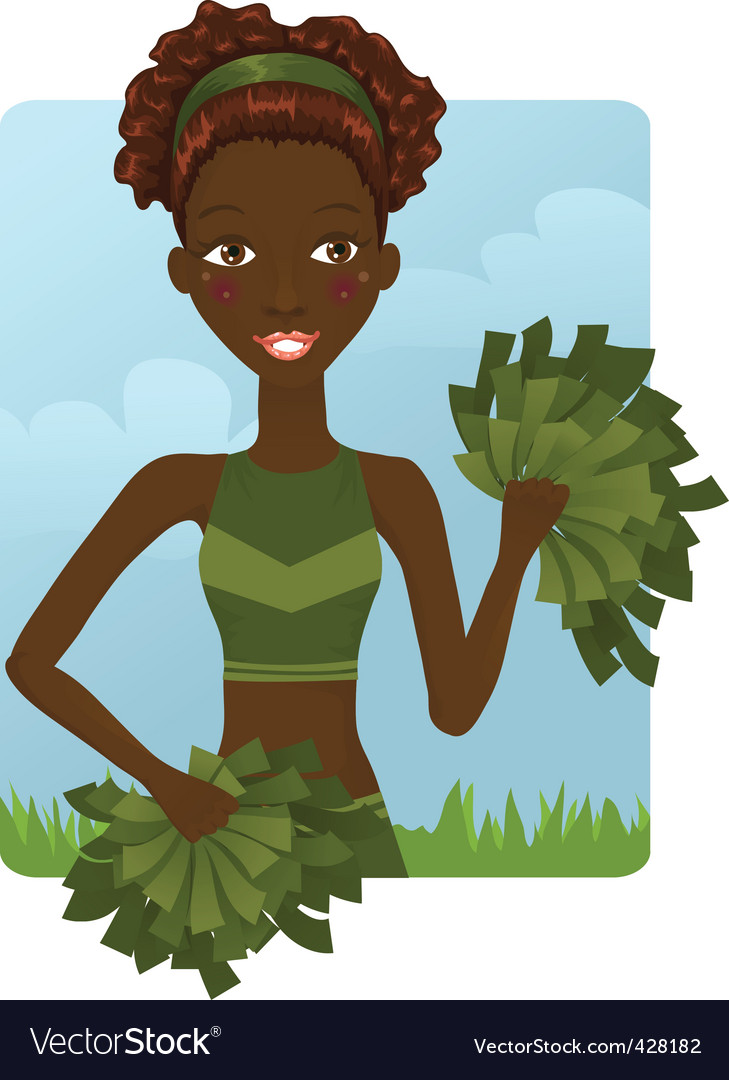 Cheerleader girl vector | Price: 3 Credit (USD $3)