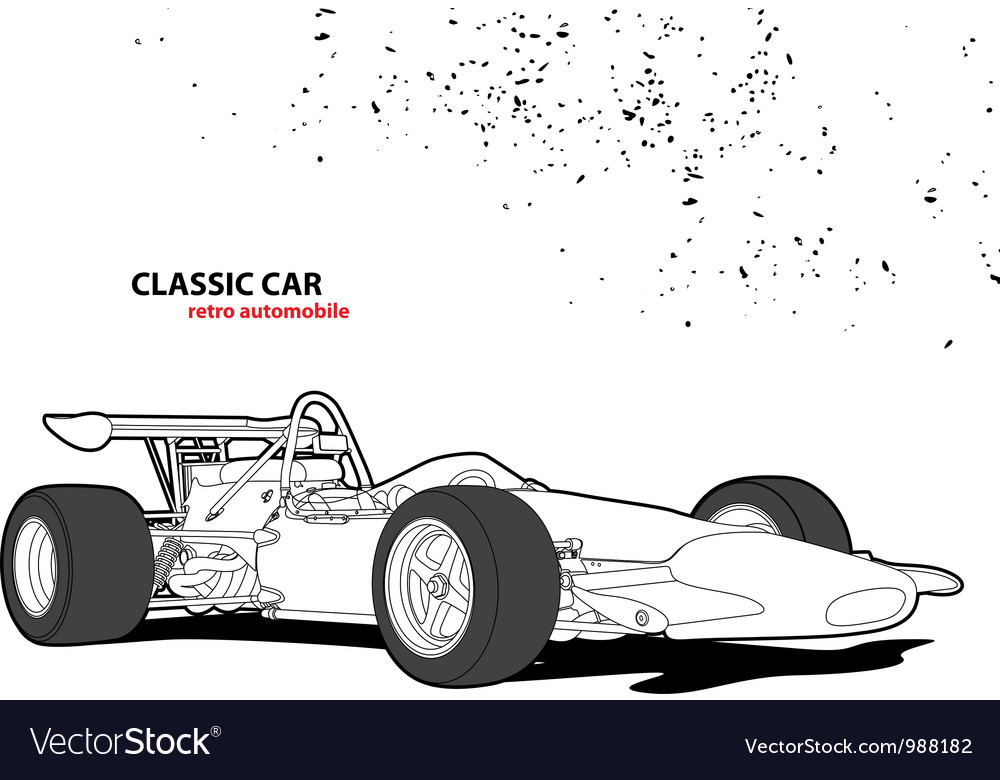 Classic car vector | Price: 1 Credit (USD $1)