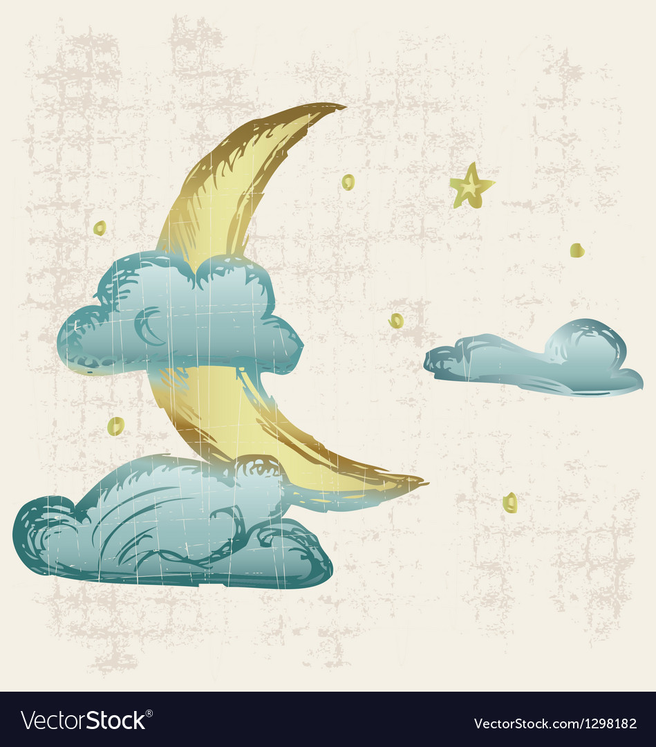 Evening crescent vector | Price: 1 Credit (USD $1)