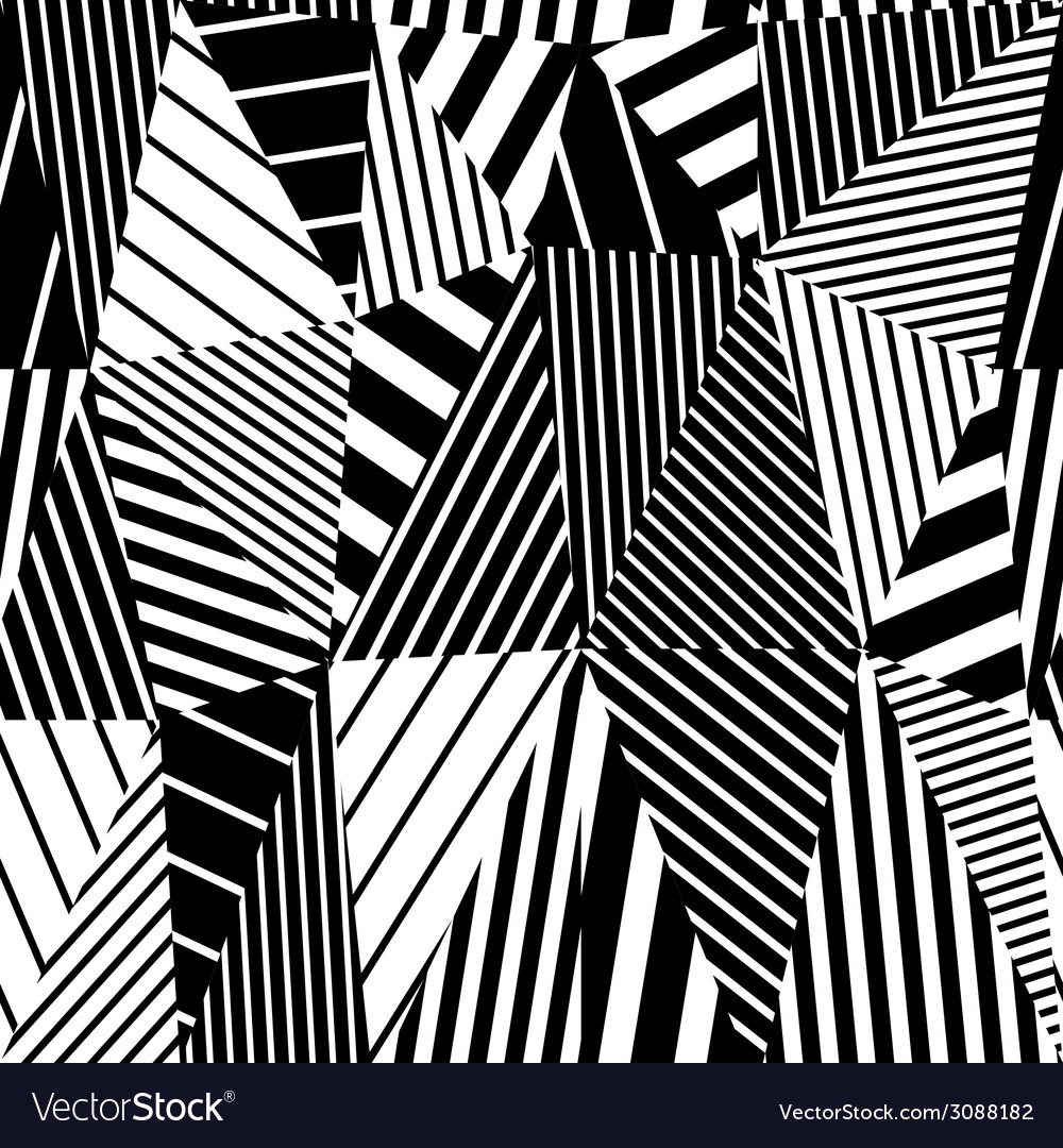 Geometric stripy seamless pattern vector | Price: 1 Credit (USD $1)