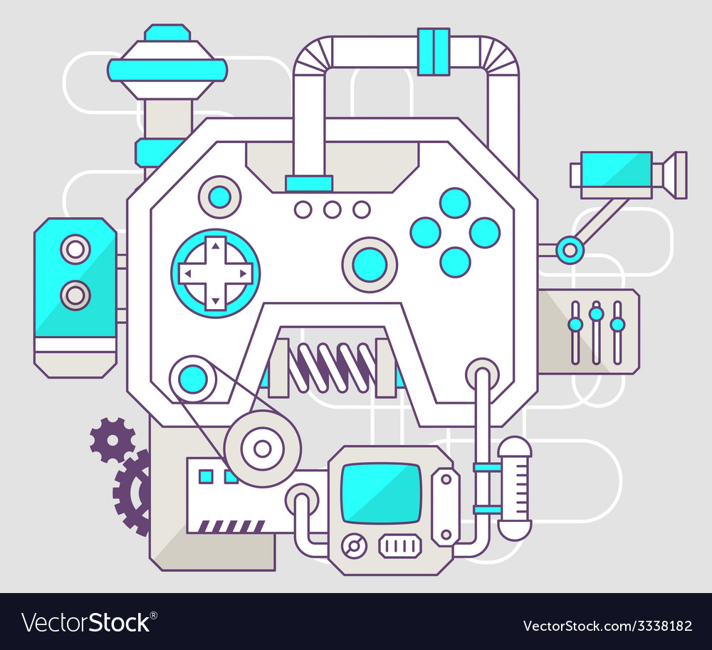 Industrial of the mechanism of joystick col vector | Price: 3 Credit (USD $3)
