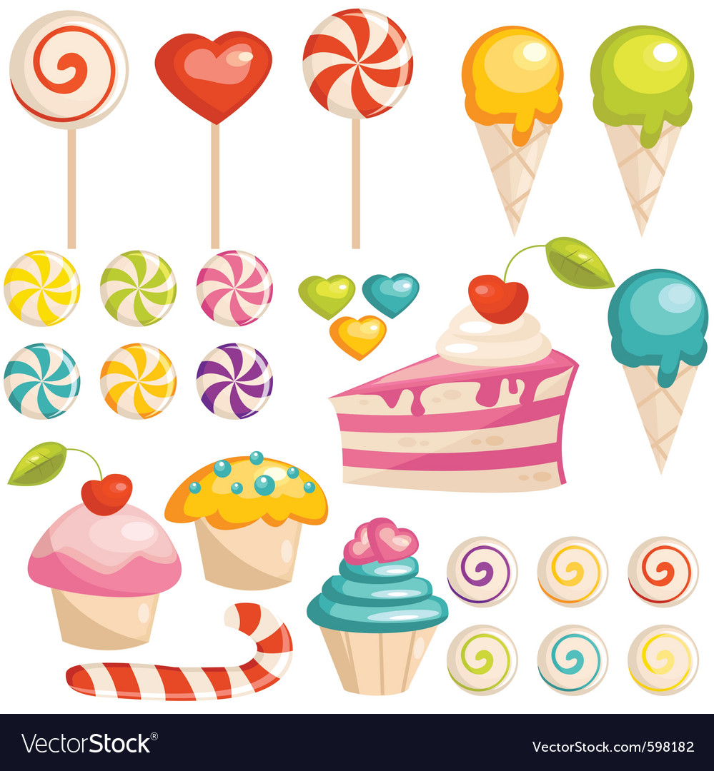 Sweets vector | Price: 3 Credit (USD $3)