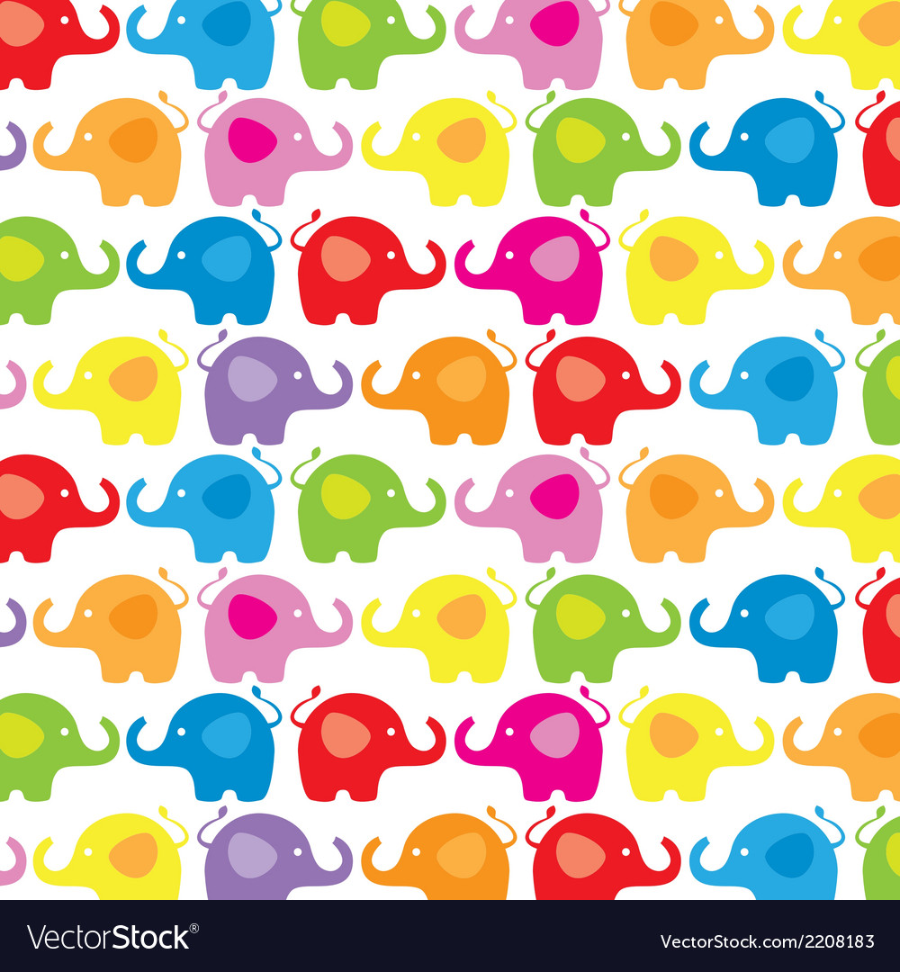Background color elephants vector | Price: 1 Credit (USD $1)