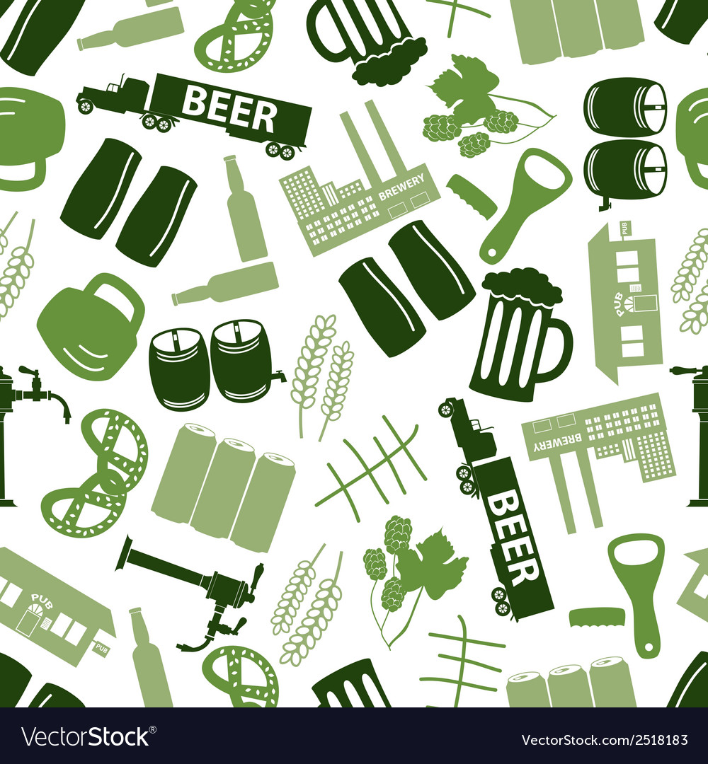 Beer icon color pattern eps10 vector | Price: 1 Credit (USD $1)