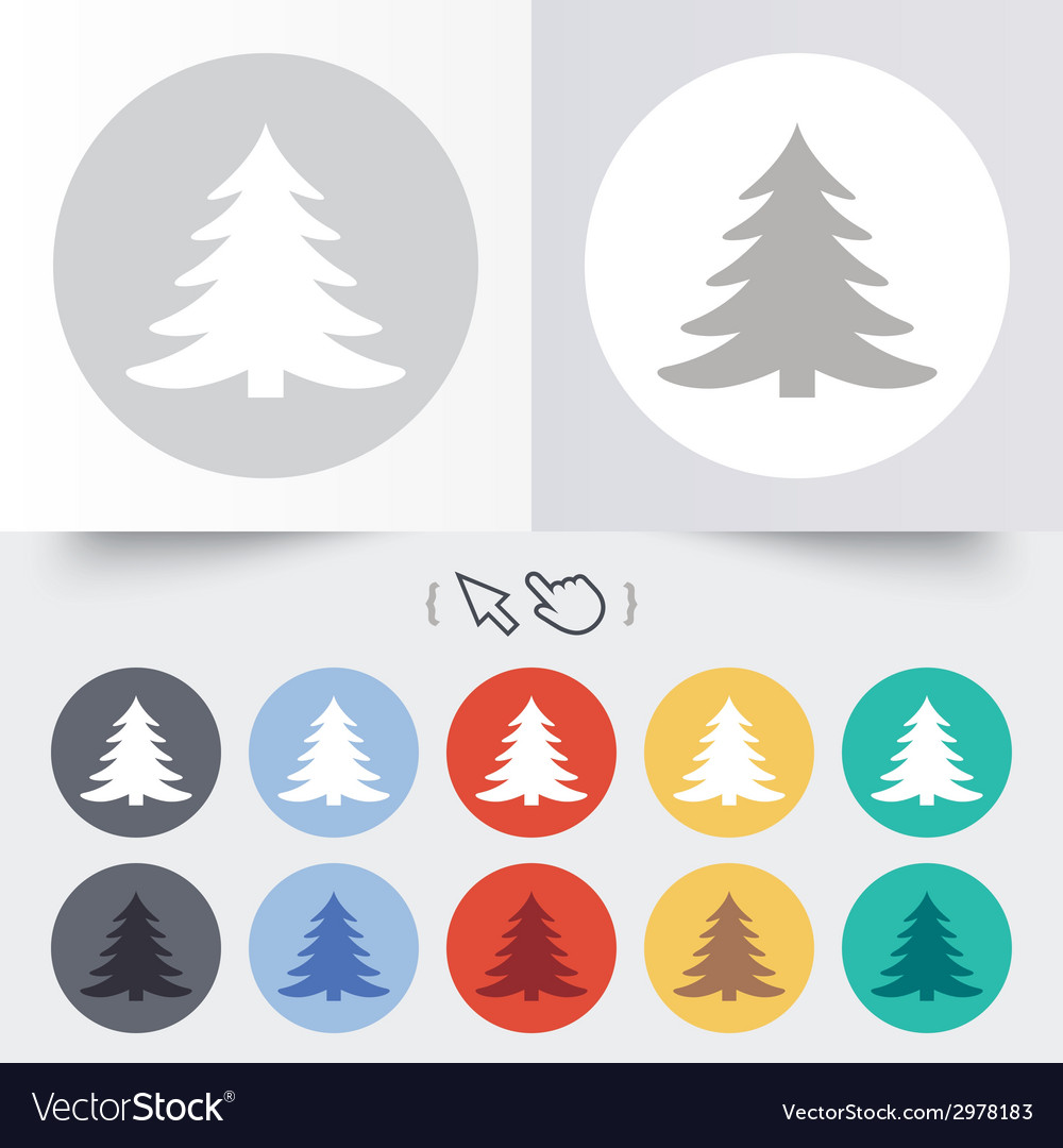 Christmas tree sign icon holidays button vector   Price: 1 Credit (USD $1)