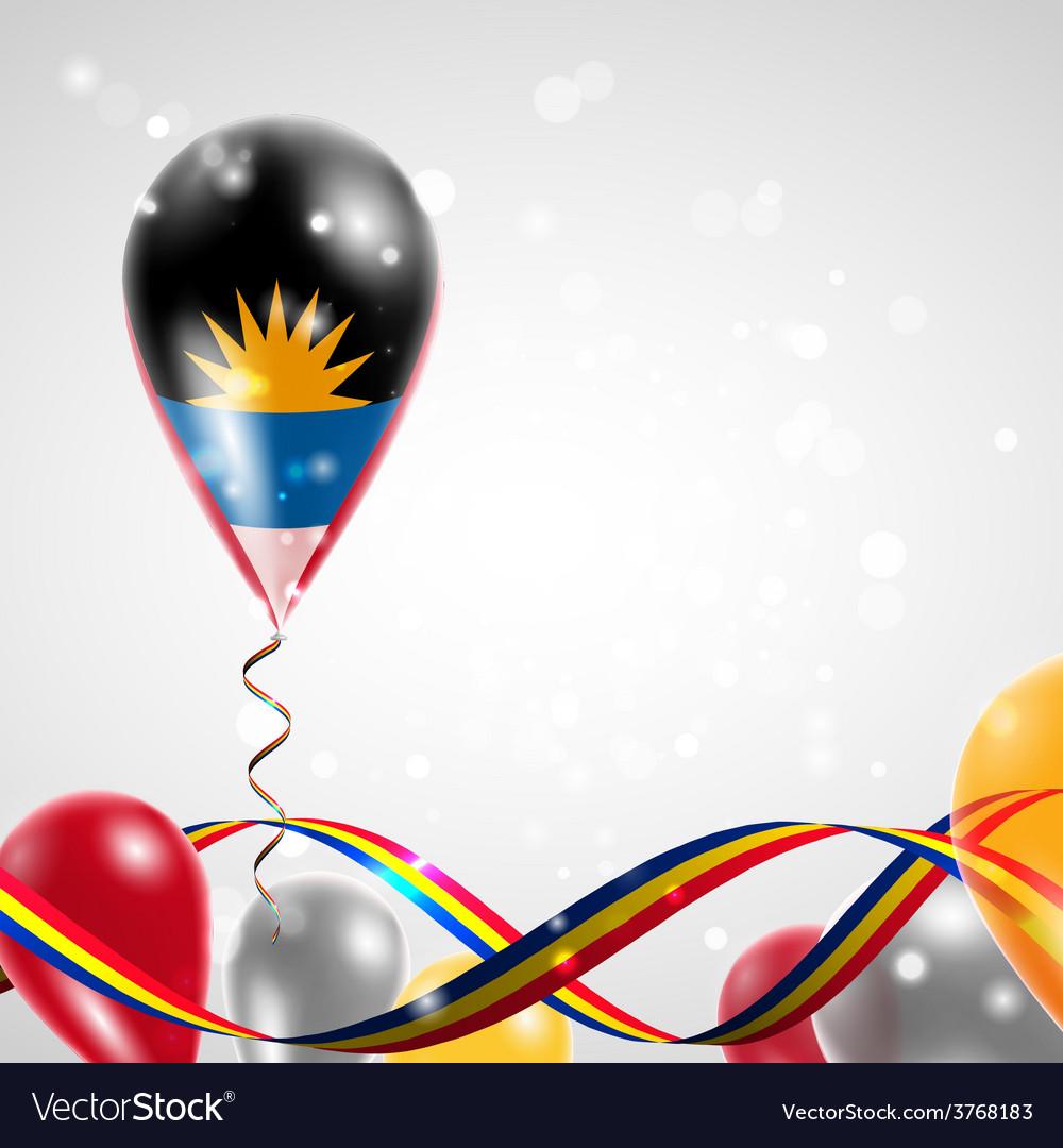 Flag of antigua and barbuda on balloon vector | Price: 3 Credit (USD $3)