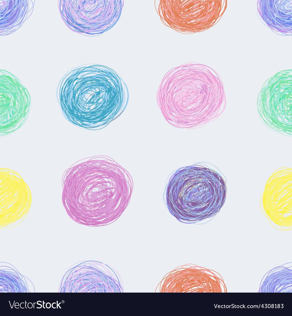 Handdrawn seamless pattern vector