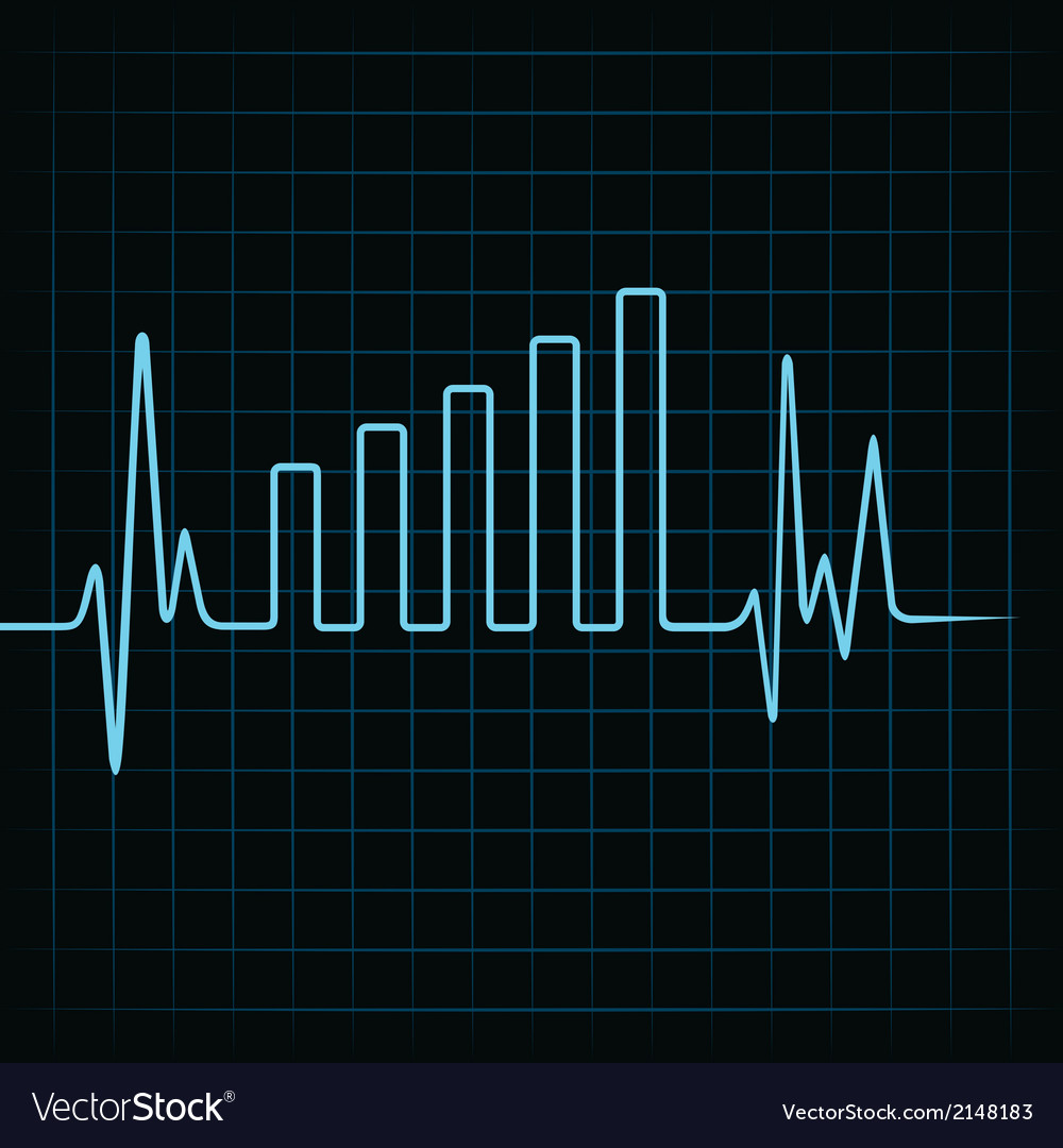 Heartbeat make business graph vector | Price: 1 Credit (USD $1)