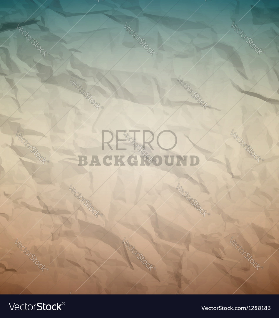 Retro crumpled background vector | Price: 1 Credit (USD $1)