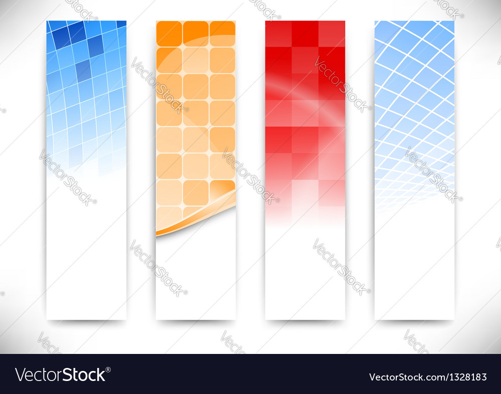 Vertical cards collection vector | Price: 1 Credit (USD $1)