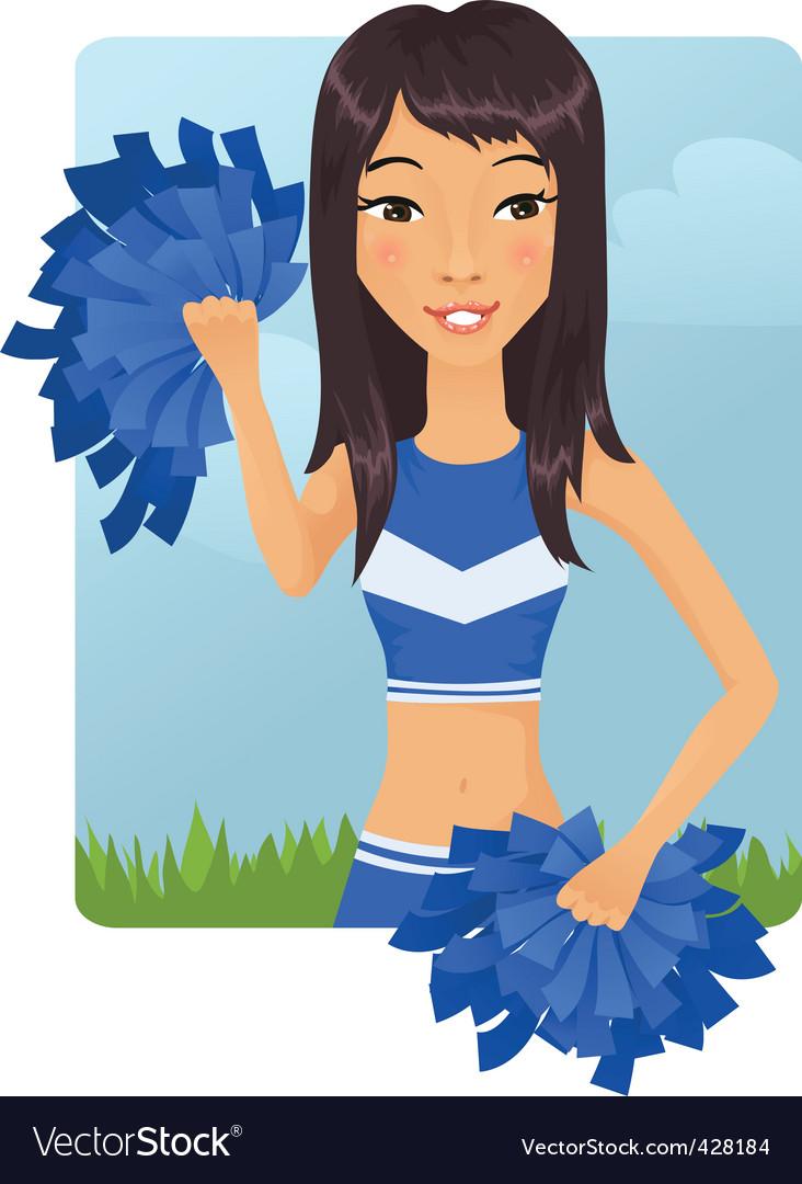 Cheerleader girl vector   Price: 3 Credit (USD $3)
