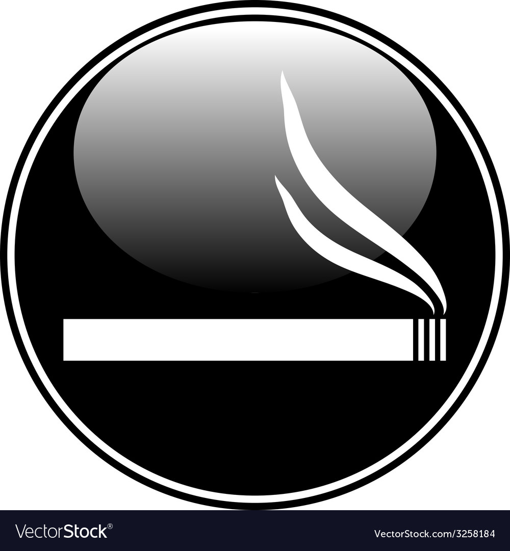 Cigarette button vector | Price: 1 Credit (USD $1)