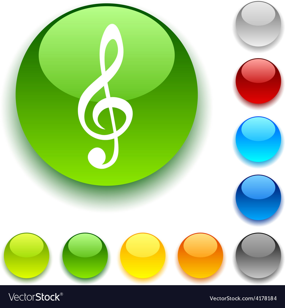Clef button vector | Price: 1 Credit (USD $1)