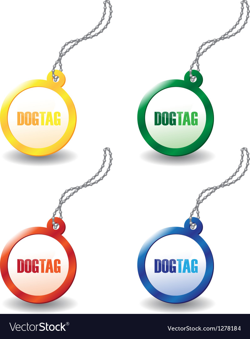 Dog tags vector | Price: 1 Credit (USD $1)