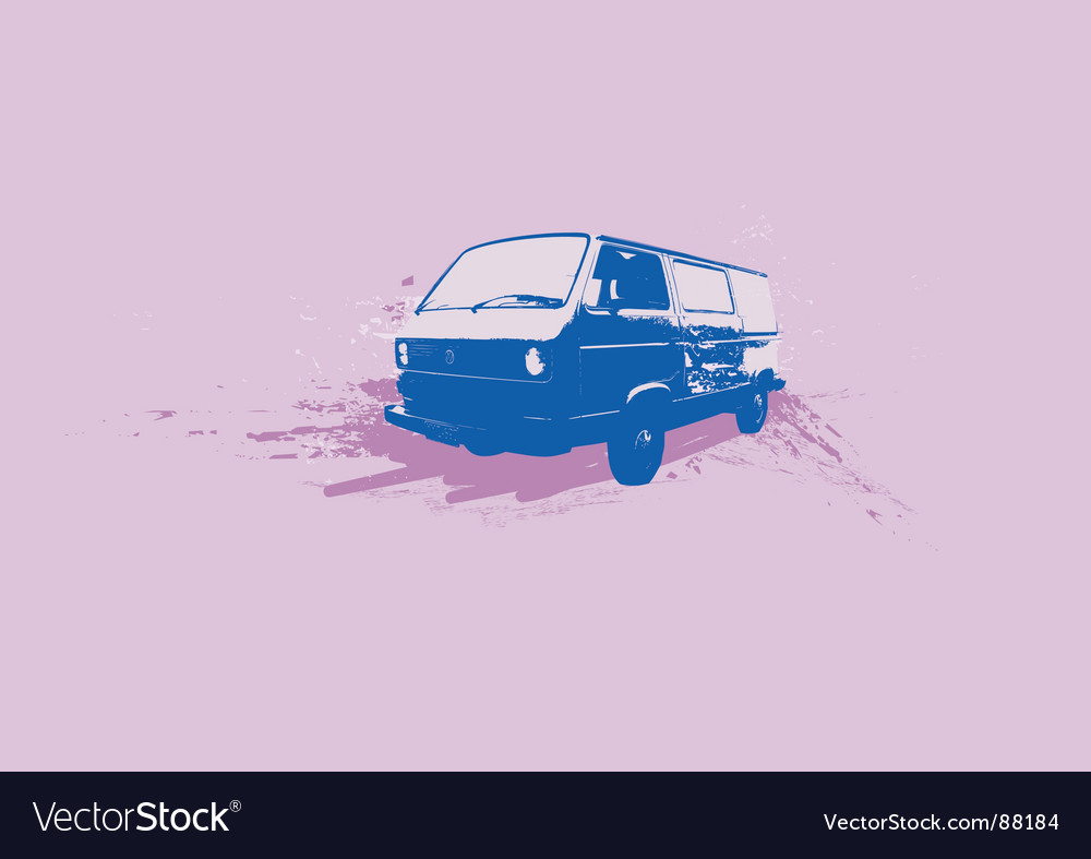 Old volkswagen vector | Price: 1 Credit (USD $1)