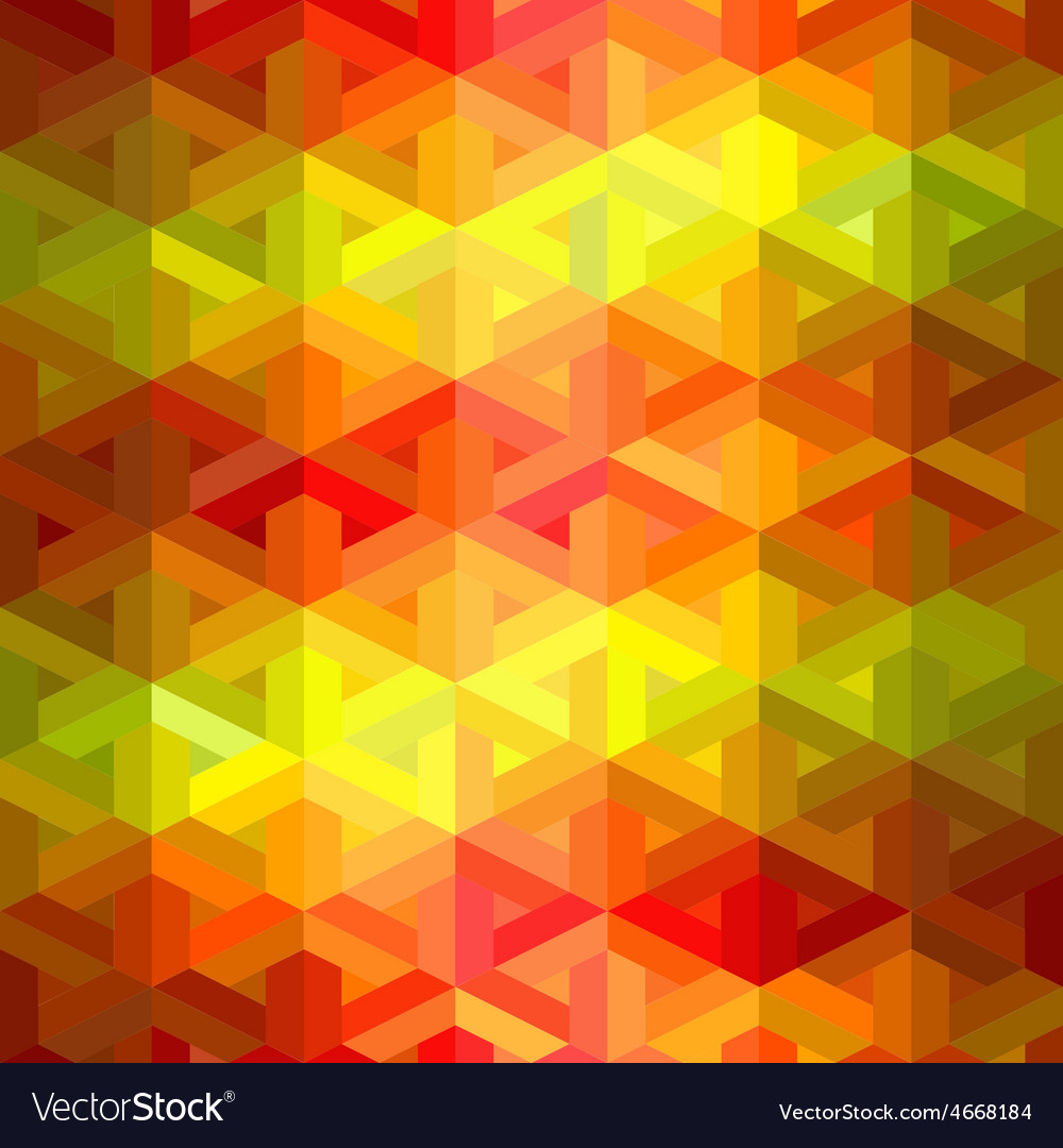 Retro seamless pattern of geometric shapes vector | Price: 1 Credit (USD $1)
