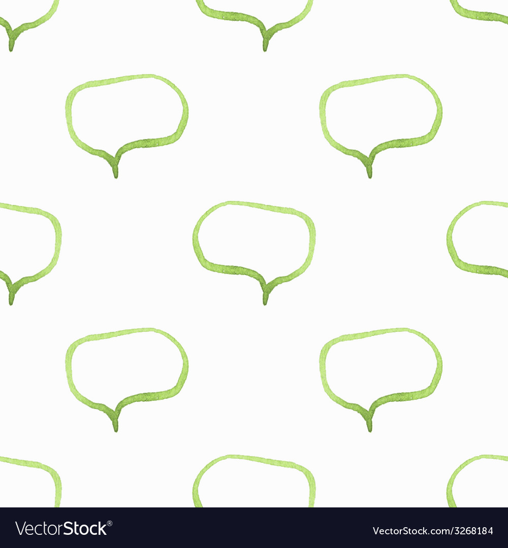 Seamless watercolor pattern with speech bubbles vector | Price: 1 Credit (USD $1)