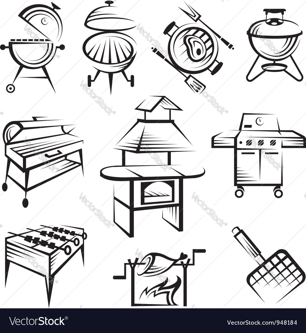 Set of barbecue design vector | Price: 1 Credit (USD $1)