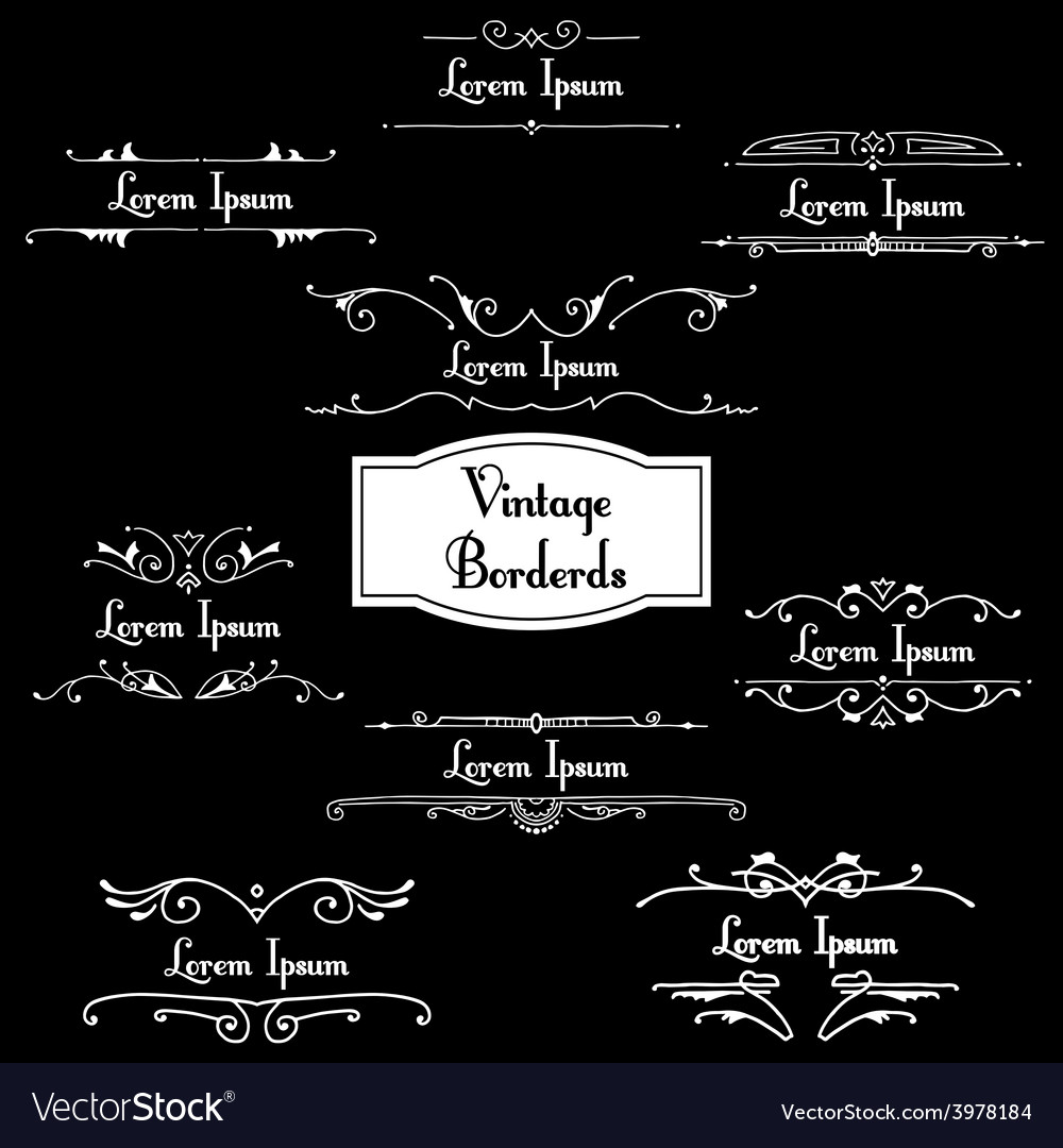 Set of retro styled ornamental designs vector | Price: 1 Credit (USD $1)