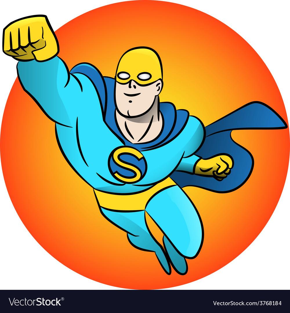 Superhero flying logo vector | Price: 1 Credit (USD $1)