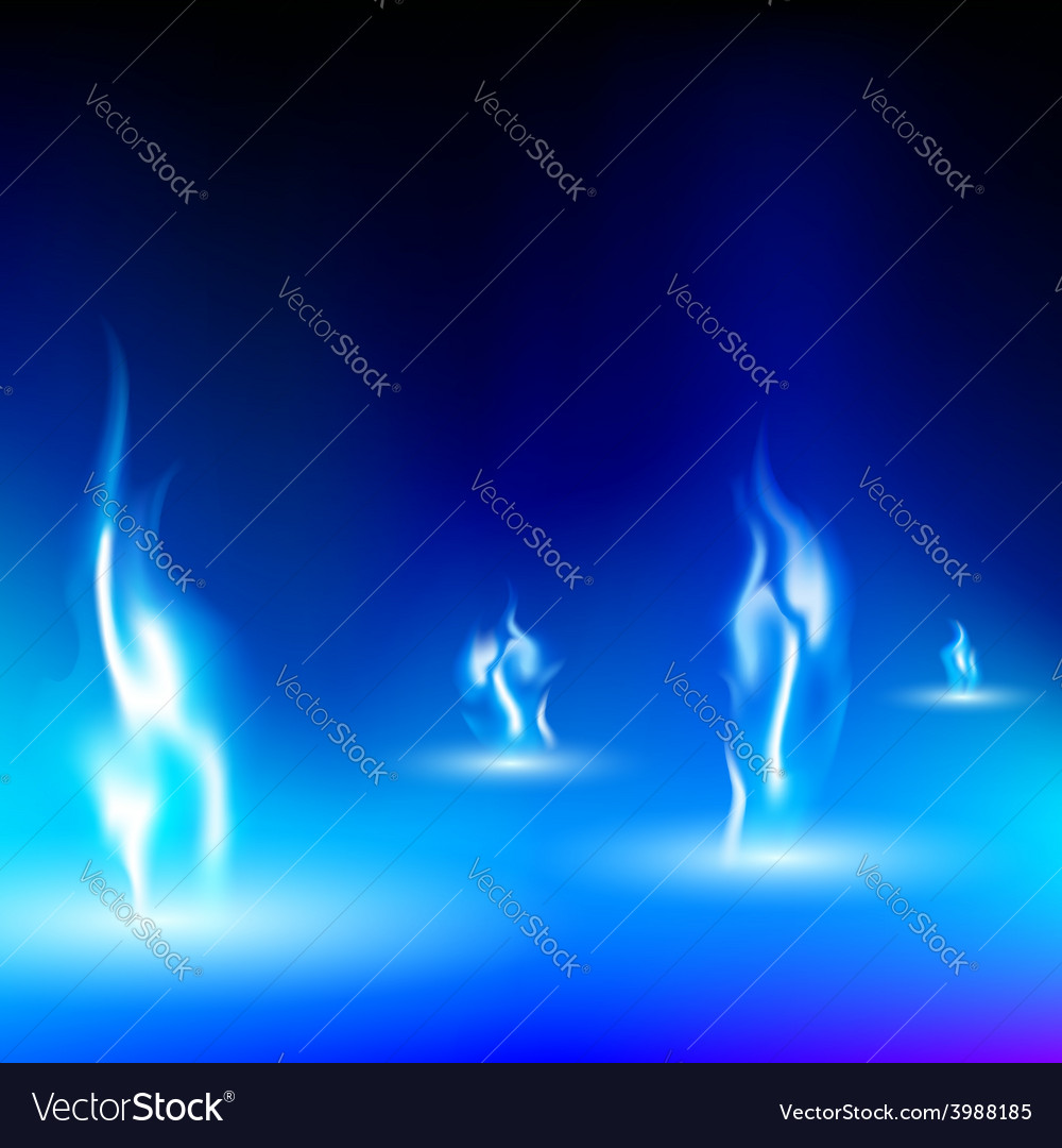 Blue flame on a black background vector | Price: 1 Credit (USD $1)