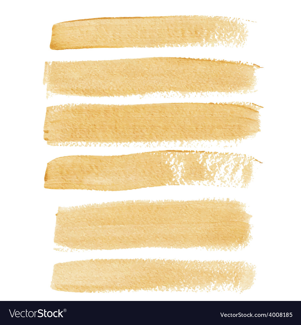 Gold ink brush strokes vector | Price: 1 Credit (USD $1)