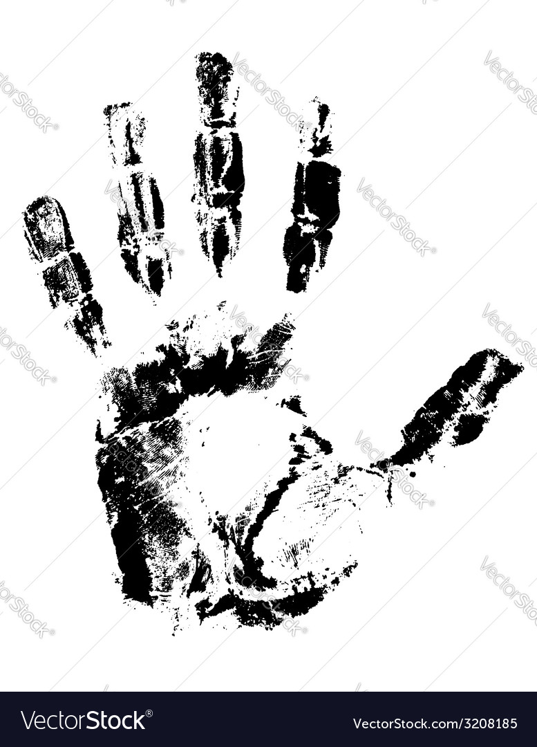 Handprint 01 vector | Price: 1 Credit (USD $1)